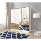 Garderobna omara z drsnimi vrati INGRID 200