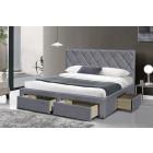Oblazinjena postelja BETTI 160 x 200