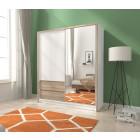 Garderobna omara z drsnimi vrati INGRID 180