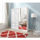 Garderobna omara z drsnimi vrati INGRID 150